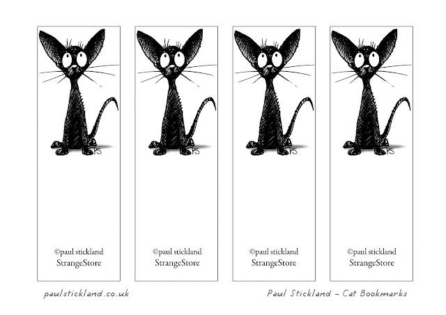 free cat bookmarks, oriental cat bookmarks,