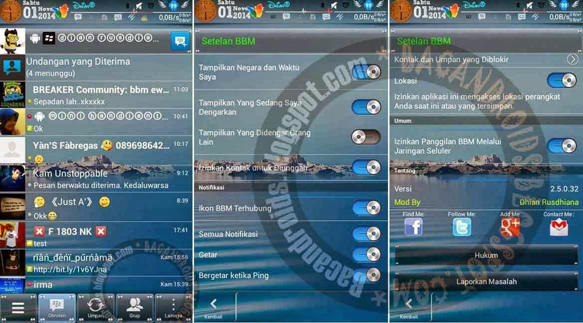 BBM mod transparan musik update 2.5