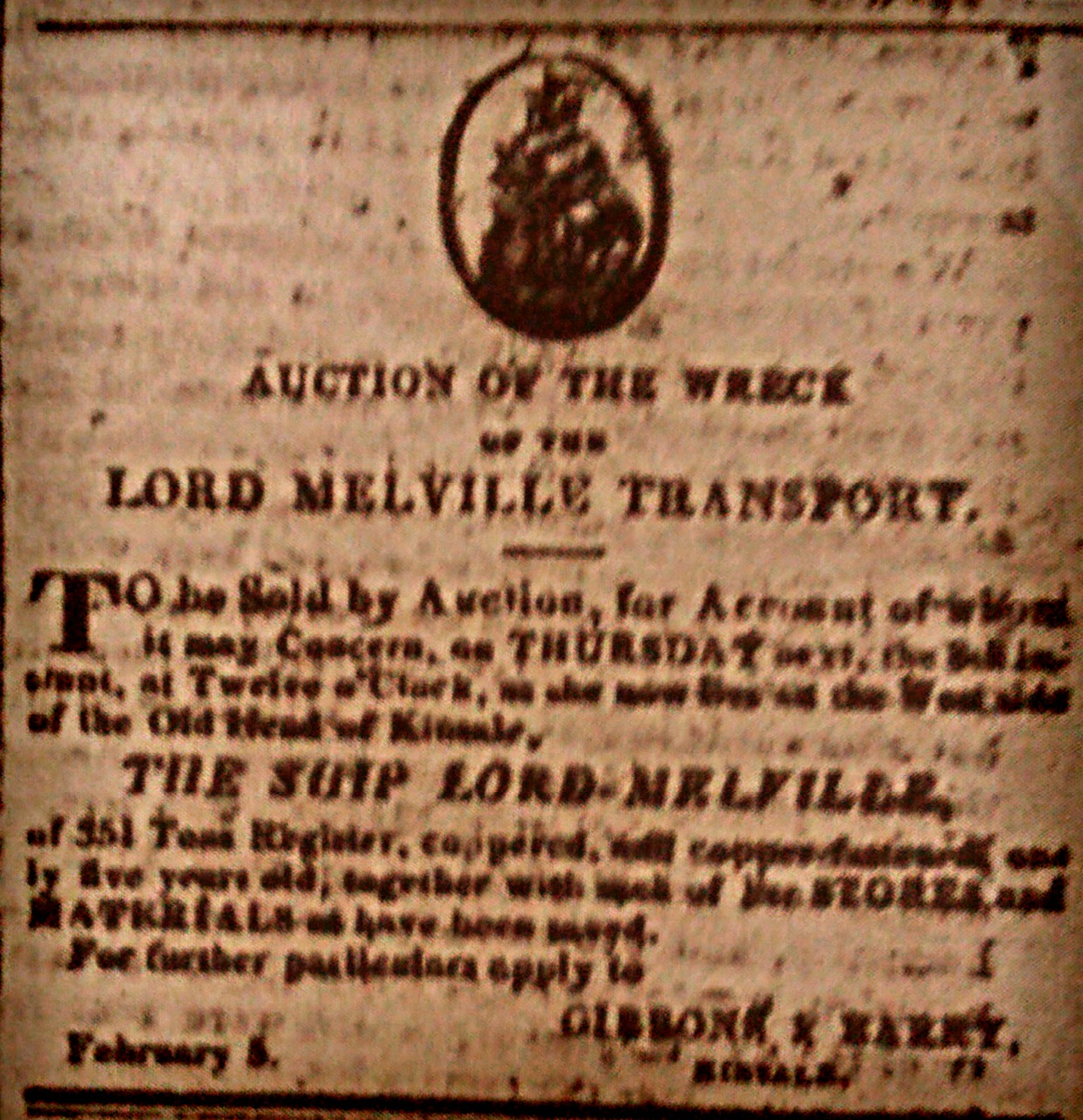 Auction of the Lord Melville