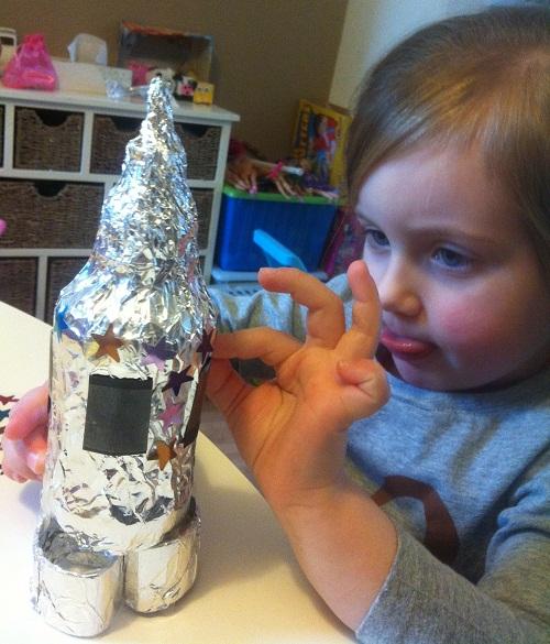 I ♥ Motherhood: How to Make a Quick Model Rocket for Children