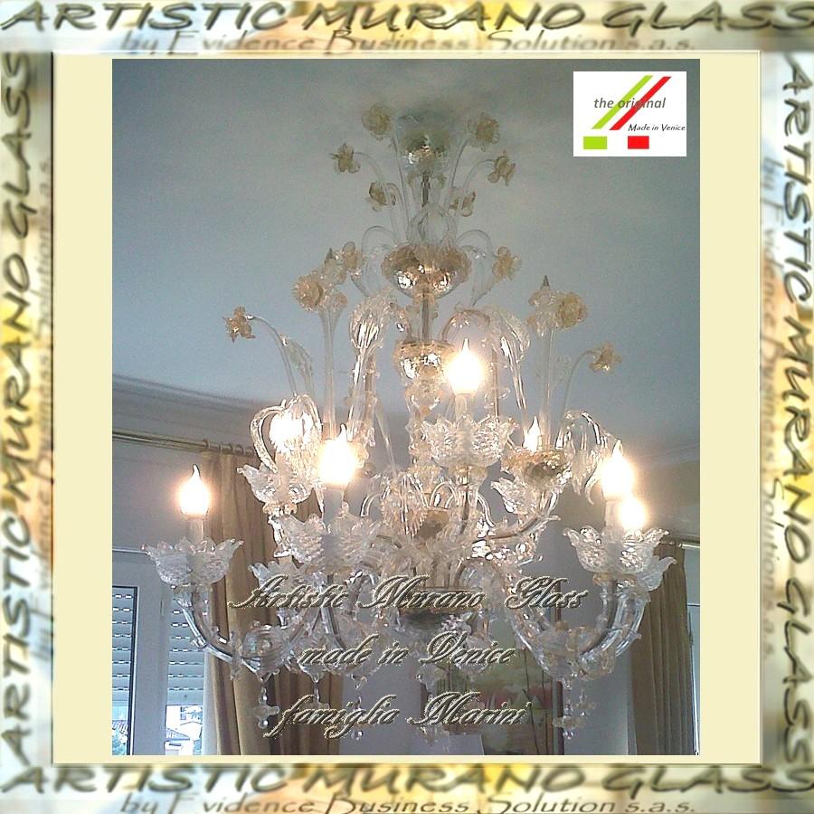 Artistic Murano Glass Chandelier Vendita On Line