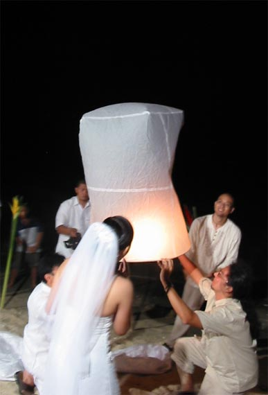 La La Linh Wedding Wednesdays Wishing Lanterns