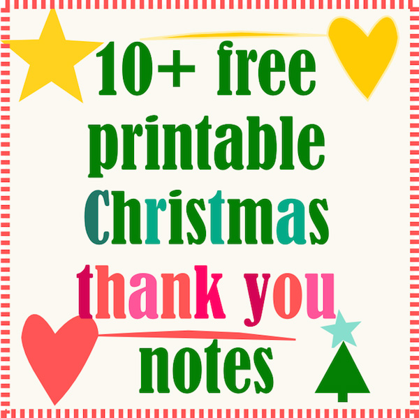 Free Printable Christmas Thank You Notes  Ausdruckbare