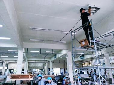 งานไฟฟ้าห้องปลอดฝุ่น บริษัท เคไอเอ็นเตอร์ไพรส์ จำกัด