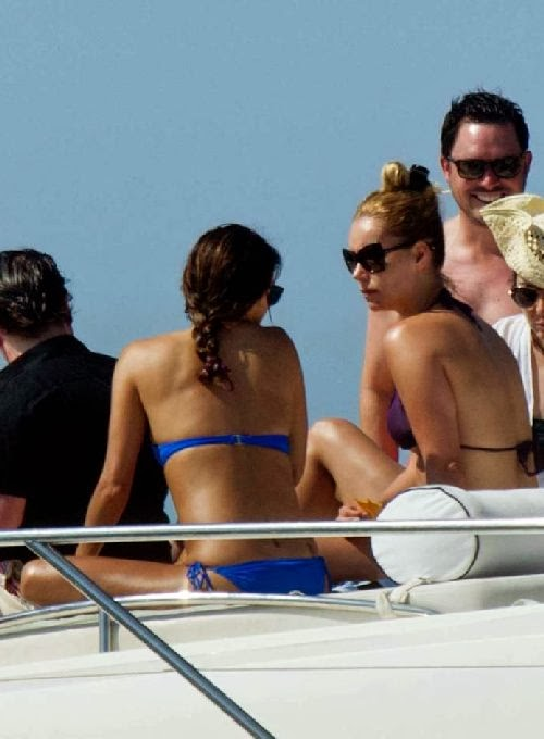 English:Eva Longoria Blue Bikini Acapulco, Mexico