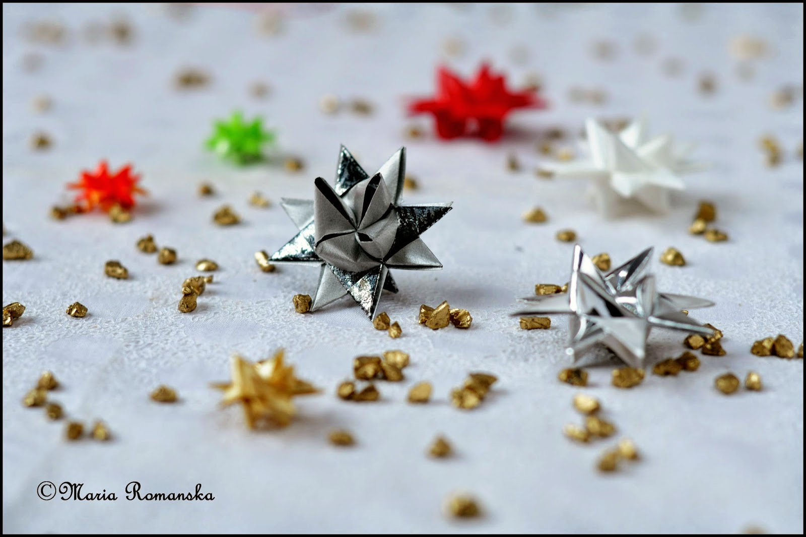 gwiazdki origami