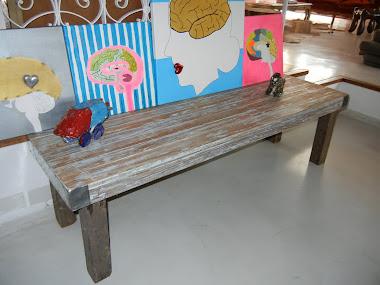 Mesa/banco. Pinotea 1, 70 x 0,50 m