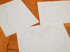 draw your designs for your freezer paper stencils