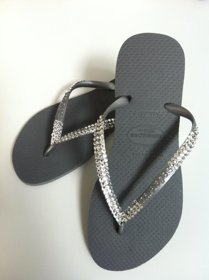 fedd83f4676 Let your feet sparkle this summer by investing in a beautiful pair of  Swarovski-embellished Havaianas - you ll be sure to turn heads when tanning  around the ...