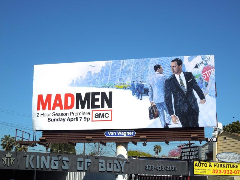 Mad Men season 6 season premiere billboard