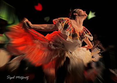 צילום רקדנית מתוך הופעה בתל אביב