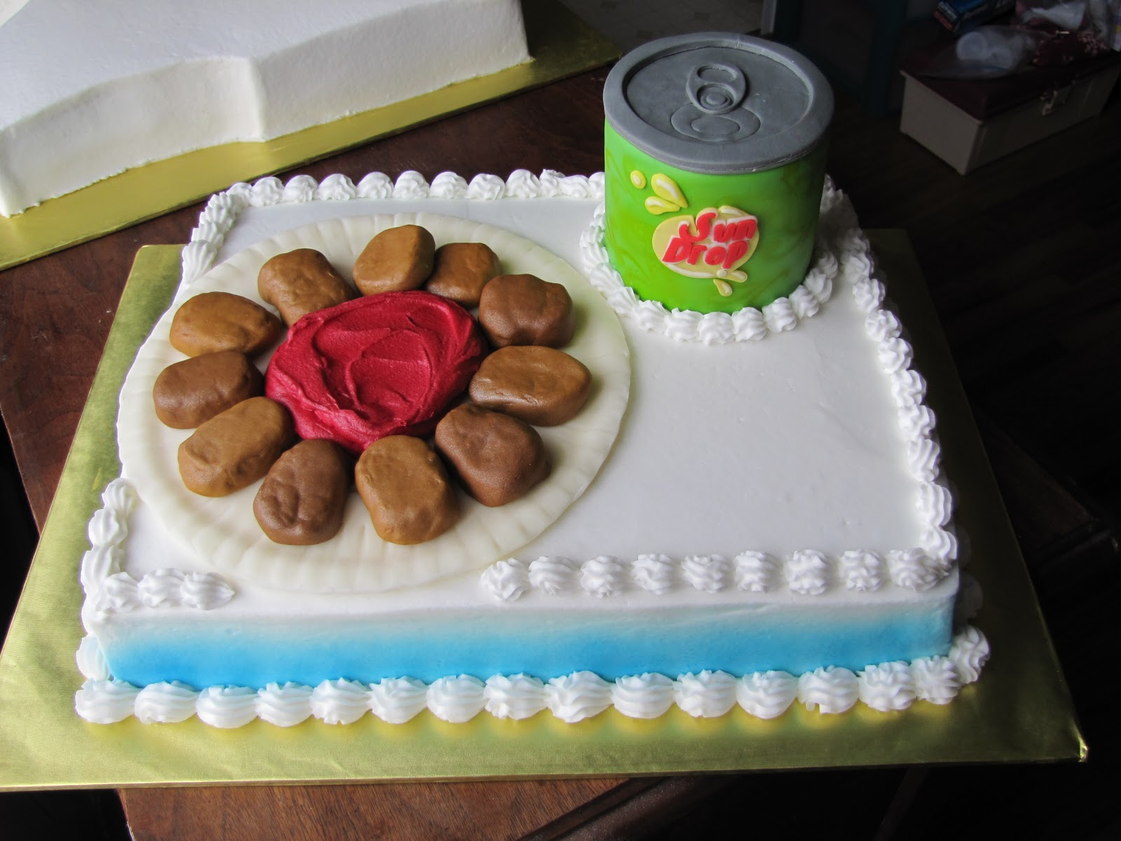 chicken nuggets cake