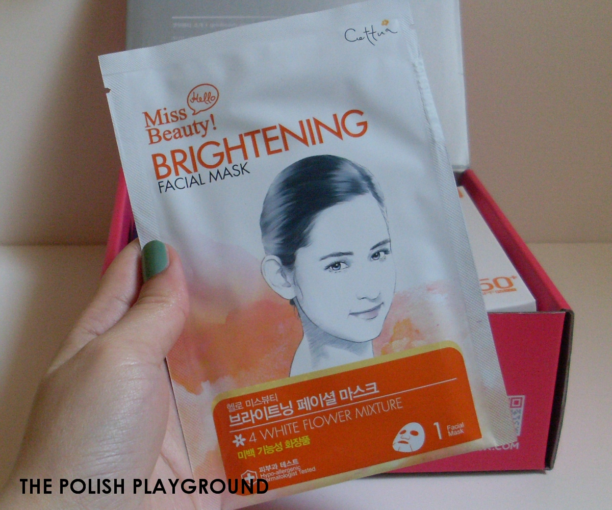 Memebox Nakedbox #8 Unboxing - CETTUA Hello Beauty Anti-aging Facial Mask