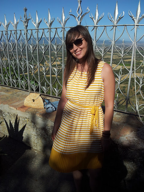 Tendencia del verano vestido de rayas de lavand