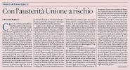 Con l'austerità Unione a rischio