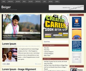 Beiger Blogger Template