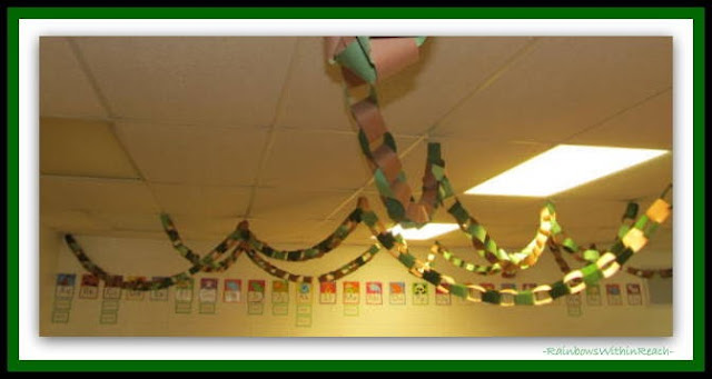 Kindergarten Jungle Vine Ceiling Decor via RainbowsWithinReach