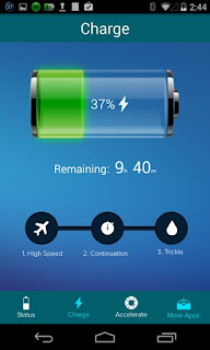 Screenshots of the Battery Master 2: Power Saver for Android tablet, mobile phone.