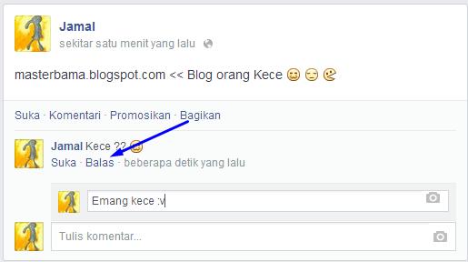 Cara Menambahkan Tombol Balas/Reply Pada Status Facebook