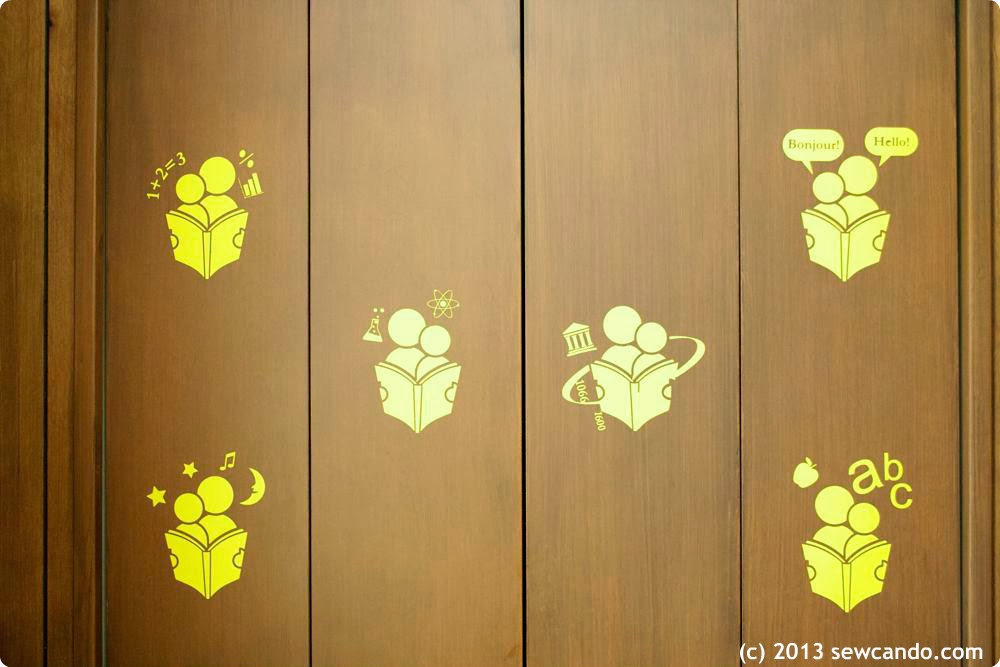 sew can do vinyl art solution for problem walls an icon. Black Bedroom Furniture Sets. Home Design Ideas