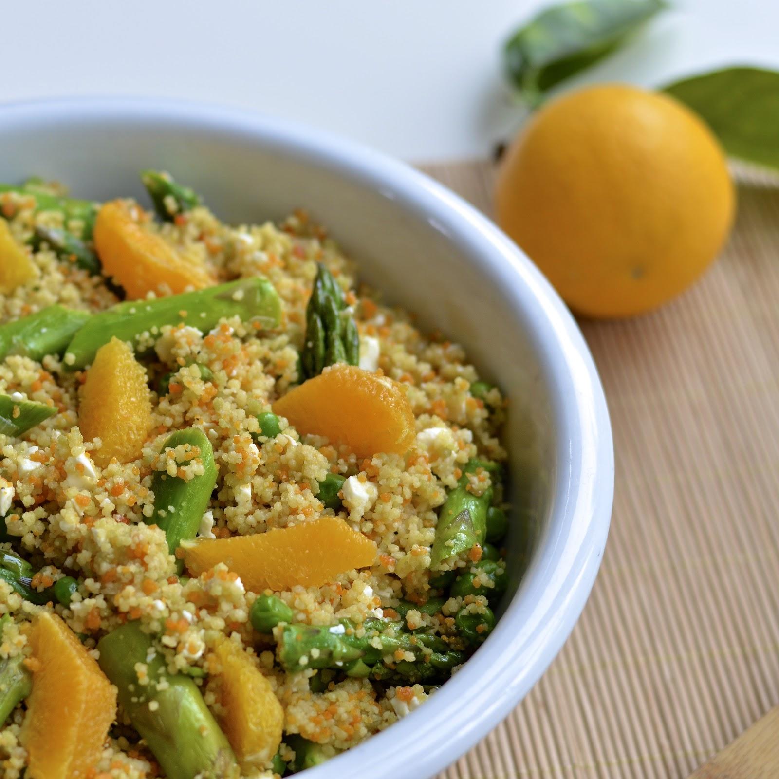 Spring Couscous Salad with a Citrus Vinaigrette | Virtually Homemade ...