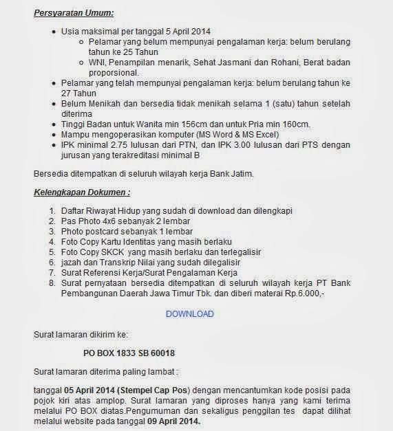 bursa-lowongan-kerja-bank-jatim-terbaru-april-2014
