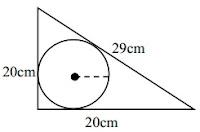 Jari-jari lingkaran dalam segitiga