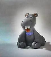 Imagem de hipopótamo em biscuit