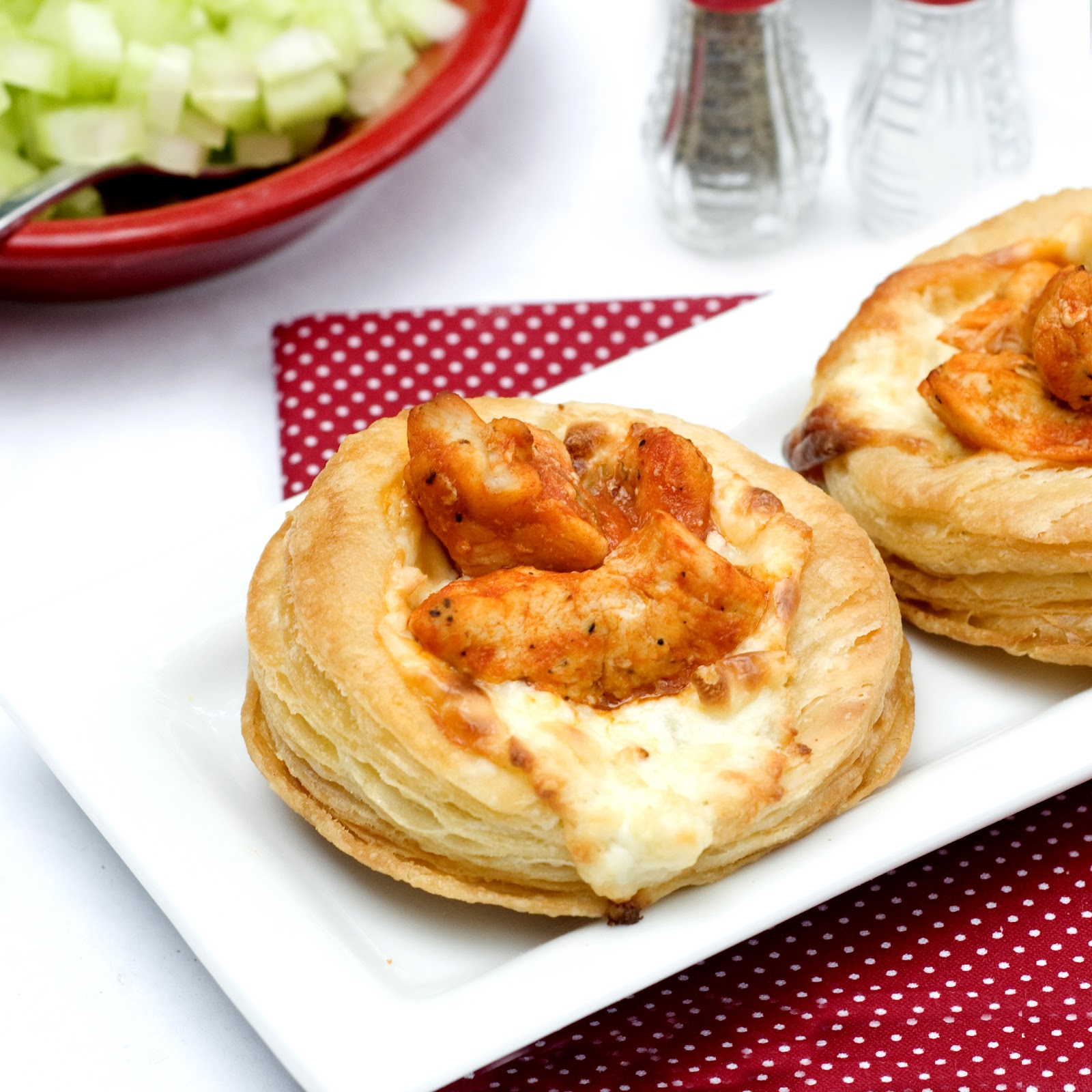 206. Puff Pastry Buffalo Chicken Appetizer