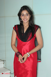Regina Latest Pictures in Red Salwar Kameez at Nirnayam Movie Audio Launch ~ Celebs Next