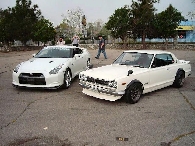 Nissan GT-R & Nissan Skyline GT-R C10, japoński sportowy samochód, legenda, godzilla, klasyk, coupe, kultowy