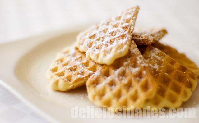 deliciosidades - pizzelle o ferratelle, galletas italianas en gofrera