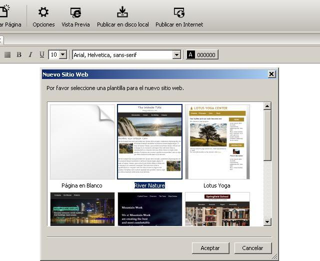 Como usar RocketCake para crear una nueva página Web