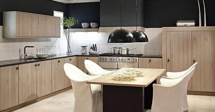 cuisine moderne en bois. Black Bedroom Furniture Sets. Home Design Ideas