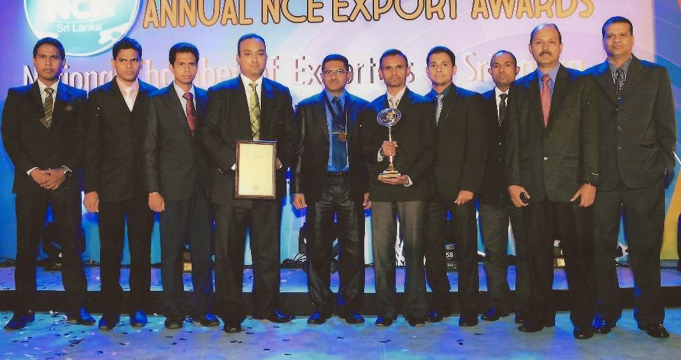 CIC Agri Produce collecting the acclaimed Gold award in the Agri Culture Value Added Small Category at the 22nd National Chamber of Exporters Awards