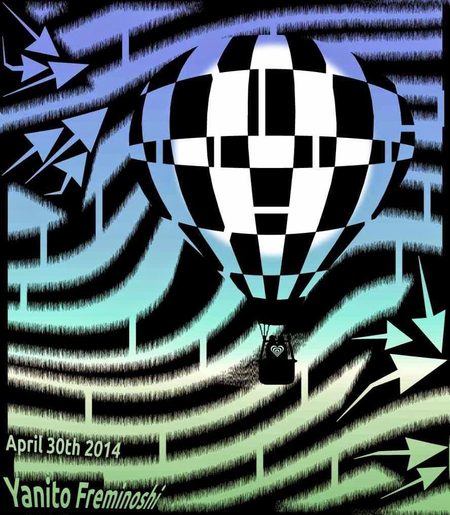 Maze of sunrise hot air balloon
