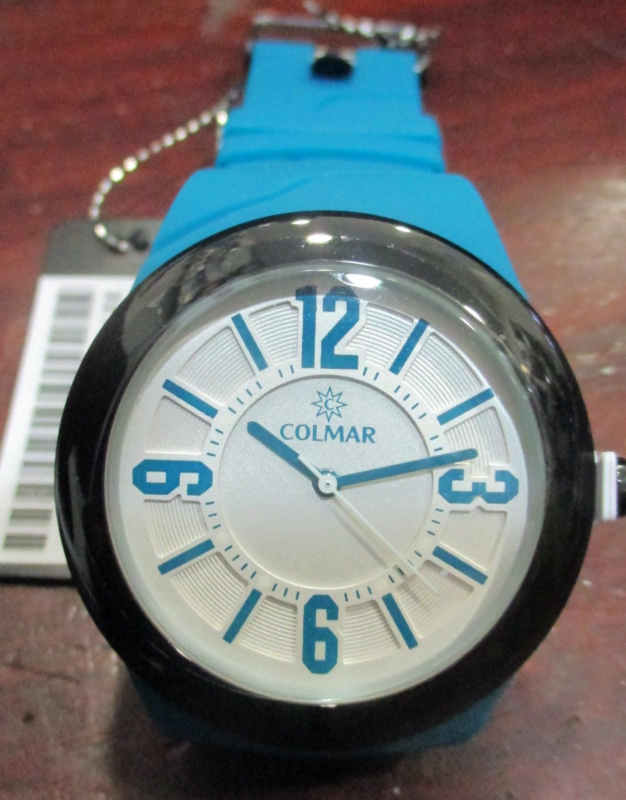 Reloj Colmar con correa resina azul