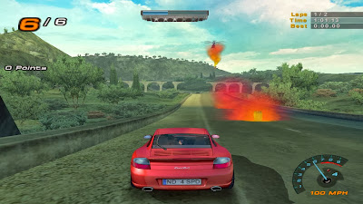 helicopter try to stop the car in nfs hot pursuit 2