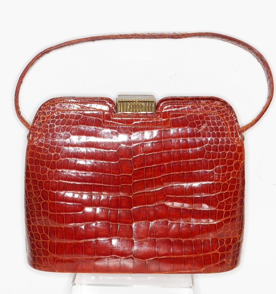 bob mackie faux croc luggage