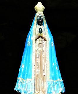 Imagem de Nossa Senhora, na Gruta Nossa Senhora de Fátima, Nova Esperança do Sul