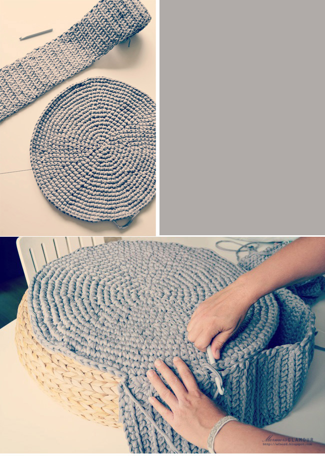 The crochet underground crochet mondays puffffffs - Como hacer un puff de trapillo ...