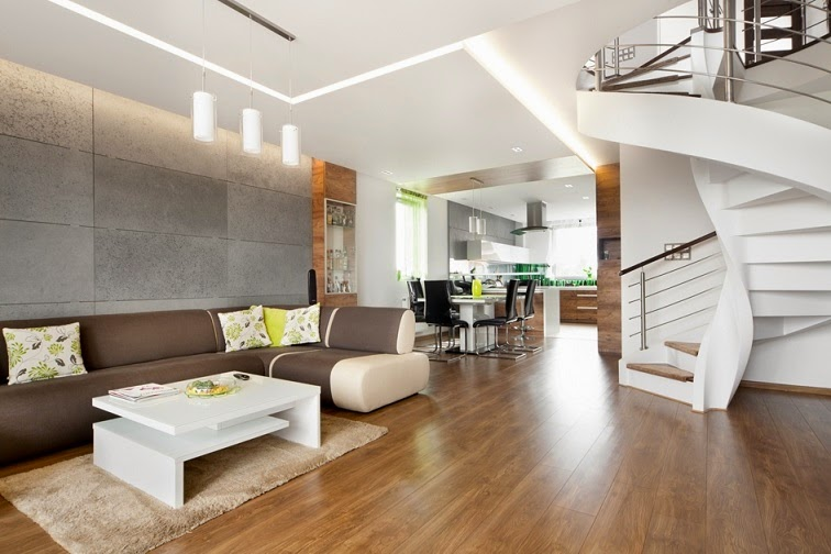 Dise o interior apartamento d plex en sosnowiec conceptgroup arquitexs - Decoracion escaleras duplex ...