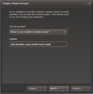 Tutorial membuat id Steam 4