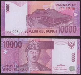 Pecahan 10.000 Rupiah tahun 2005
