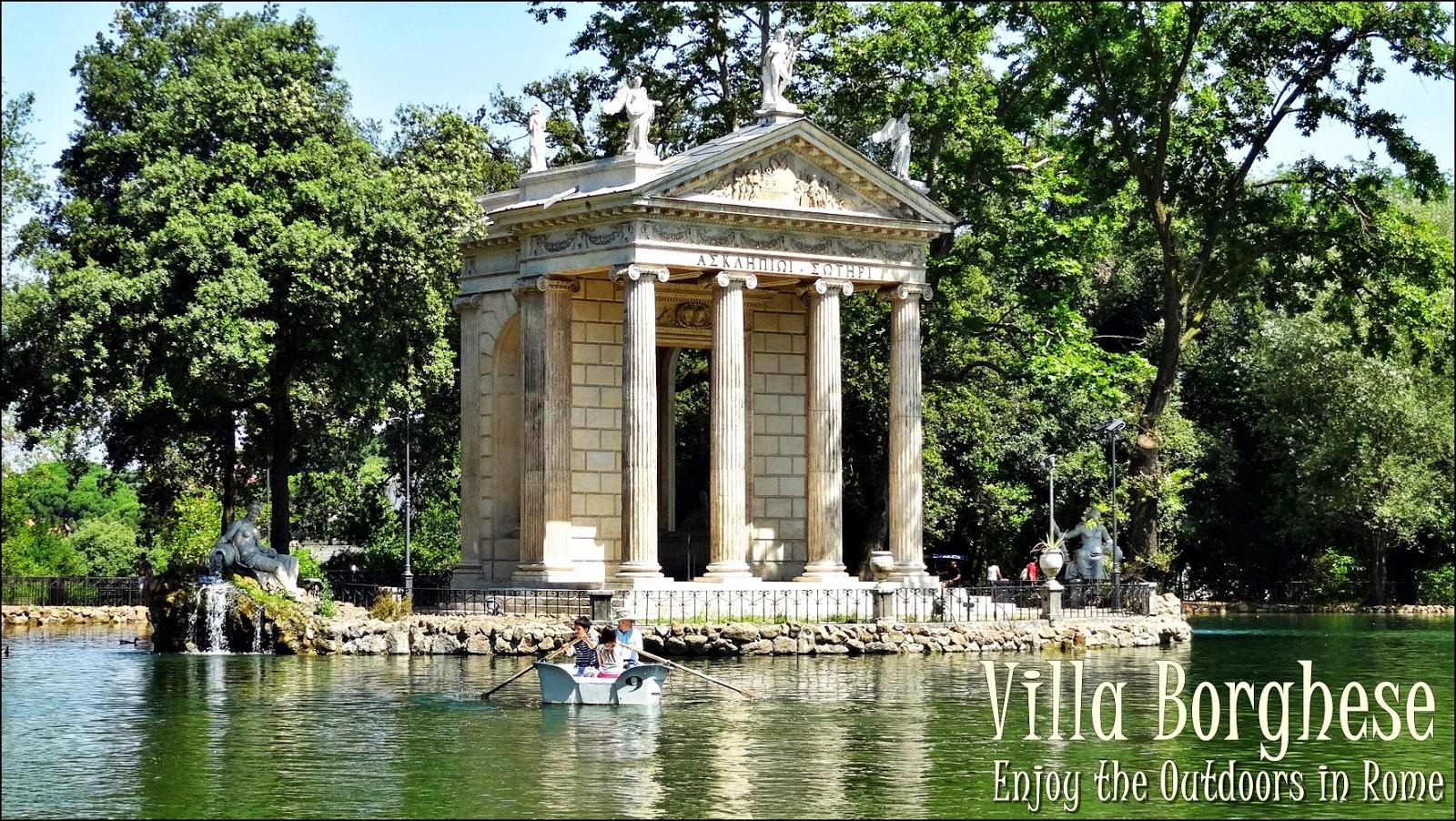 Rome, park, rowboats