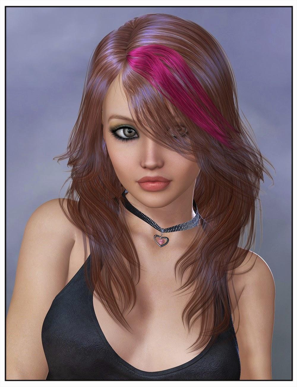 3d Models Art Zone - Lilyanne Hair Colors