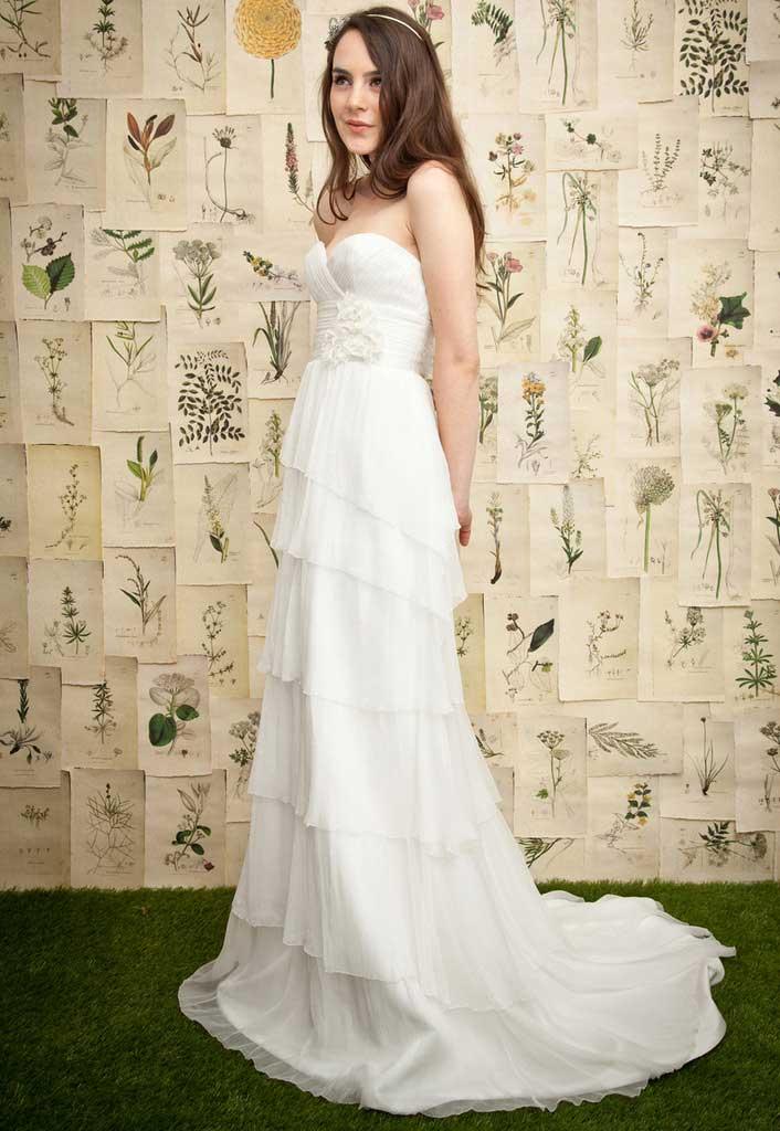 Ivy Aster Silk Chiffon Bridal Wedding Gowns