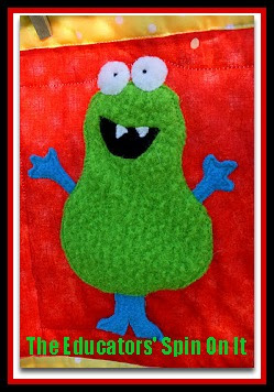 photo of: Monster on Quilt from The Educators' Spin On it (Monster RoundUP via RainbowsWithinReach)
