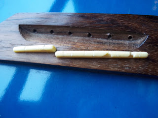 Gouges in my Guvnor Guitar Two Piece Saddle