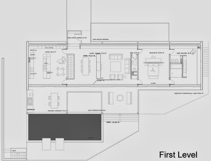 First floor plan of Window House by LADAA in Valencia